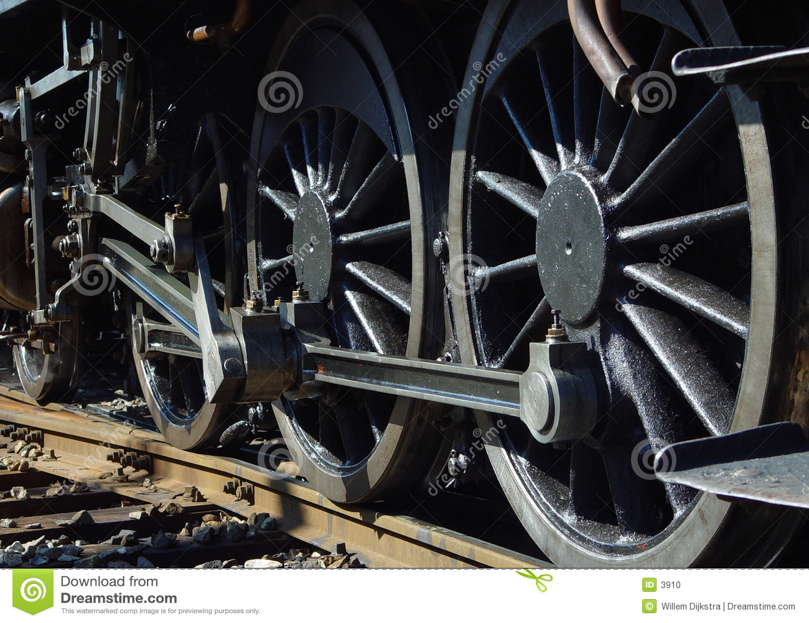 Rodas do motor de vapor