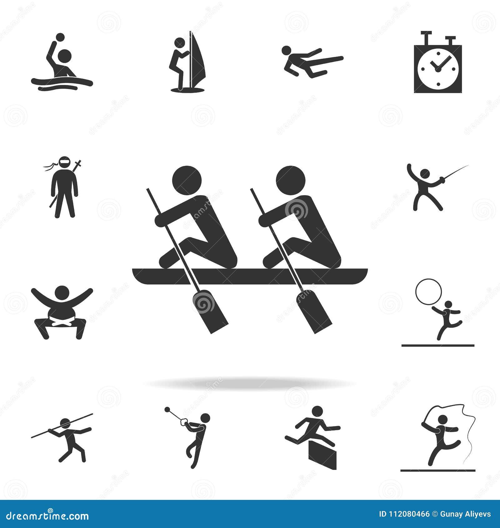 Roddsymbol Detaljerad uppsättning av idrottsman nen- och tillbehörsymboler Högvärdig kvalitets- grafisk design En av samlingssymb