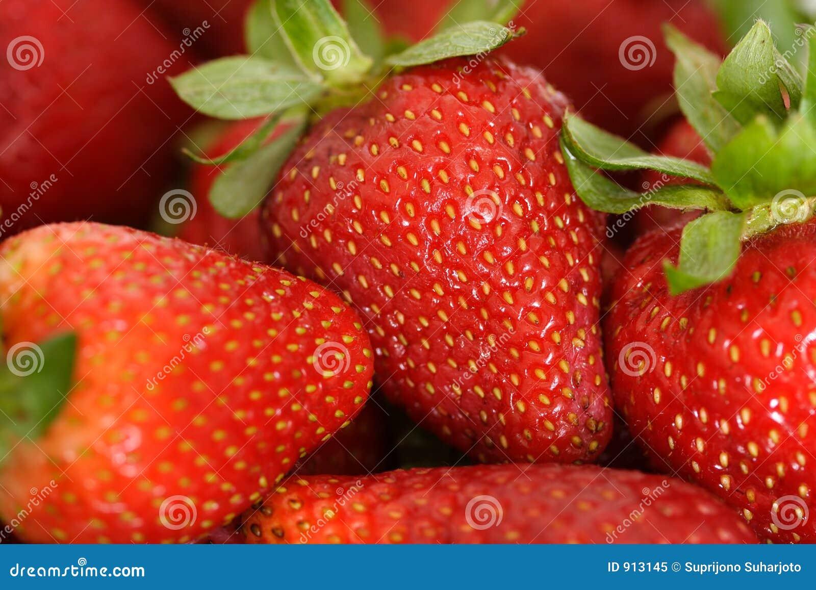 Rode aardbeien