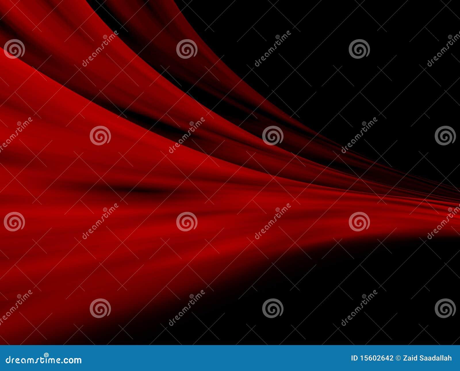 Rode Abstracte gordijnen
