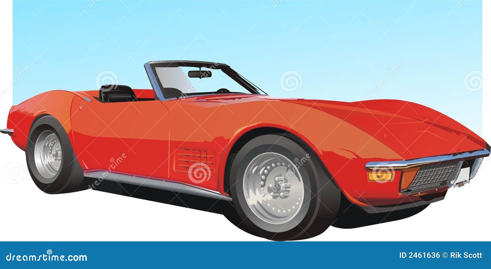 Rode Amerikaanse Sportwagen