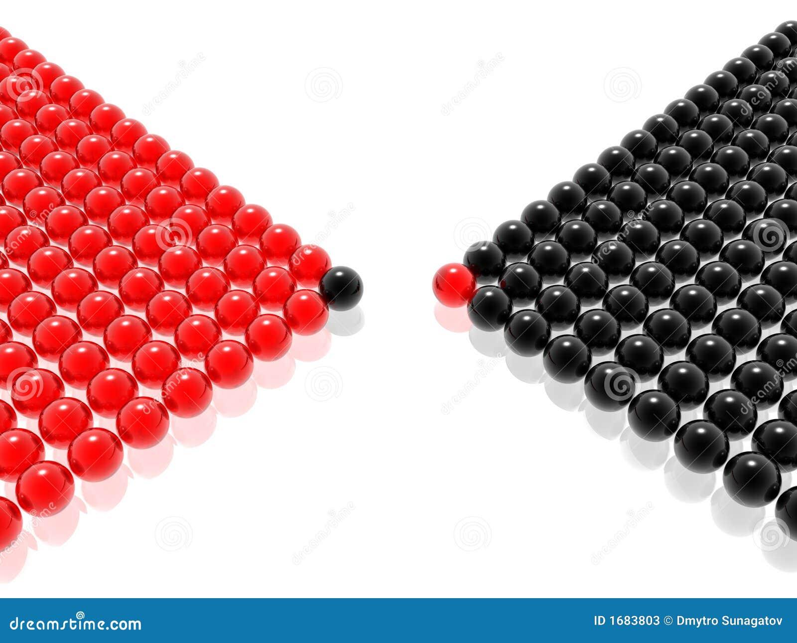 Rode & zwarte leider van beheer