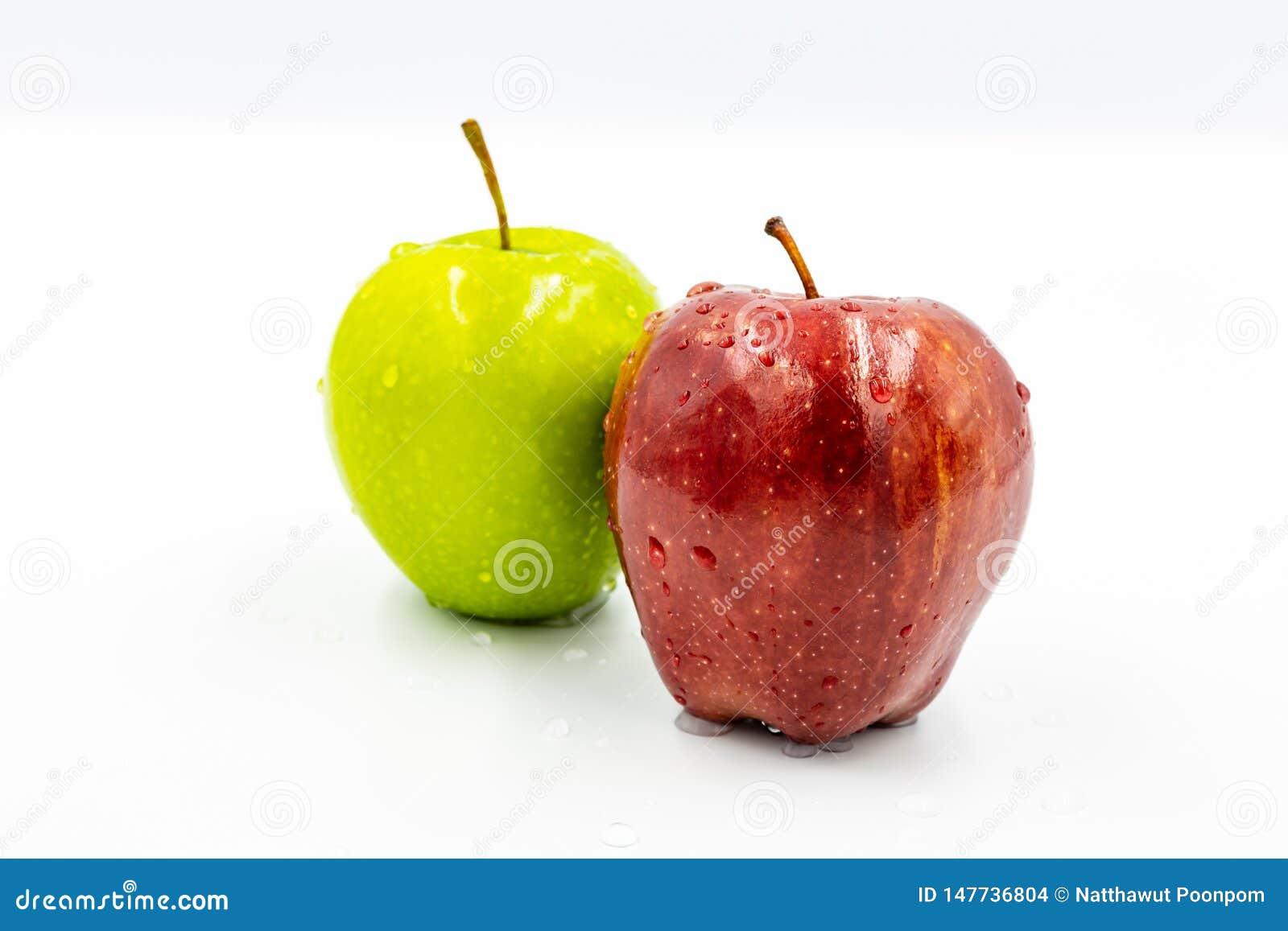 Rode appelen en groene appelen