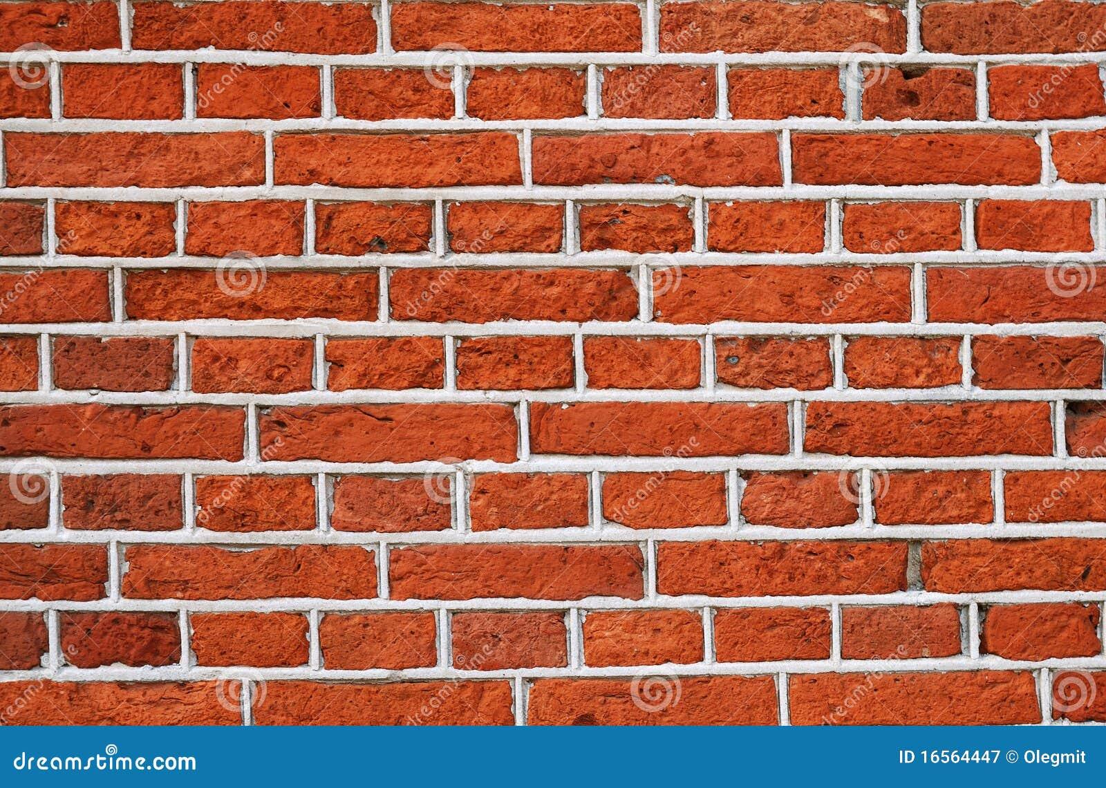 ... -vrije Stock Fotografie: Rode bakstenen muur met grijs cementpatroon