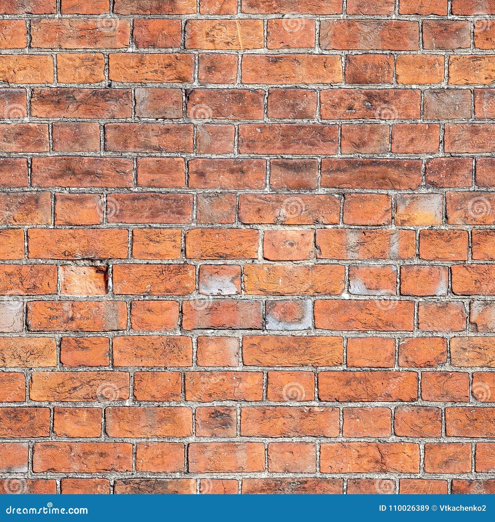 Rode bakstenen muur naadloze textuur