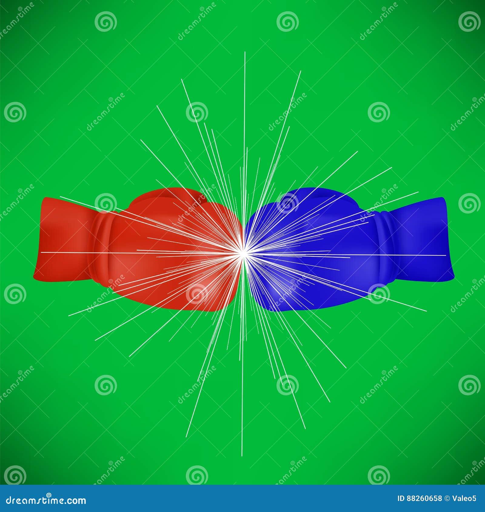 Rode Blauwe Sport Bokshandschoen
