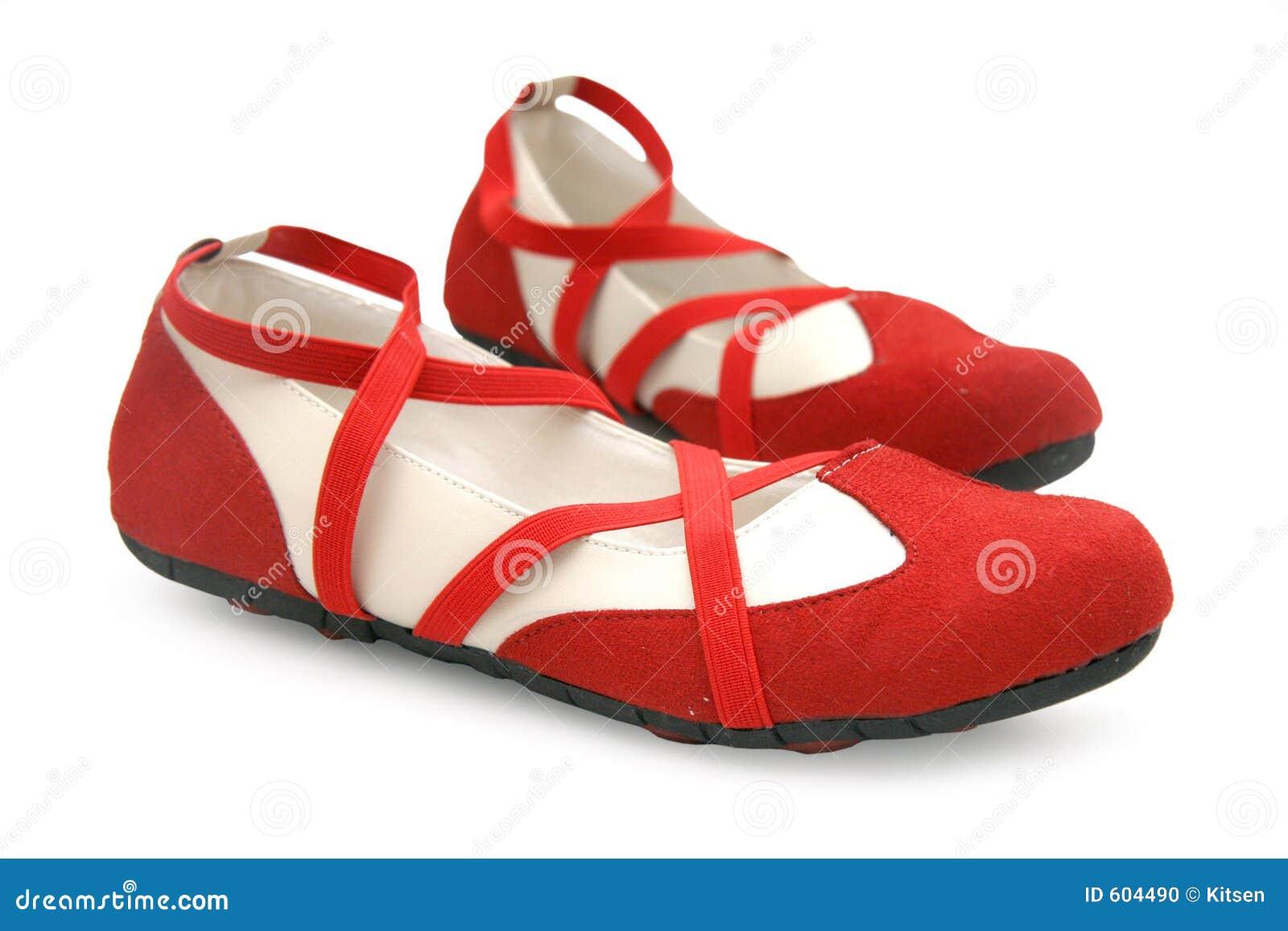 Rode dansschoenen