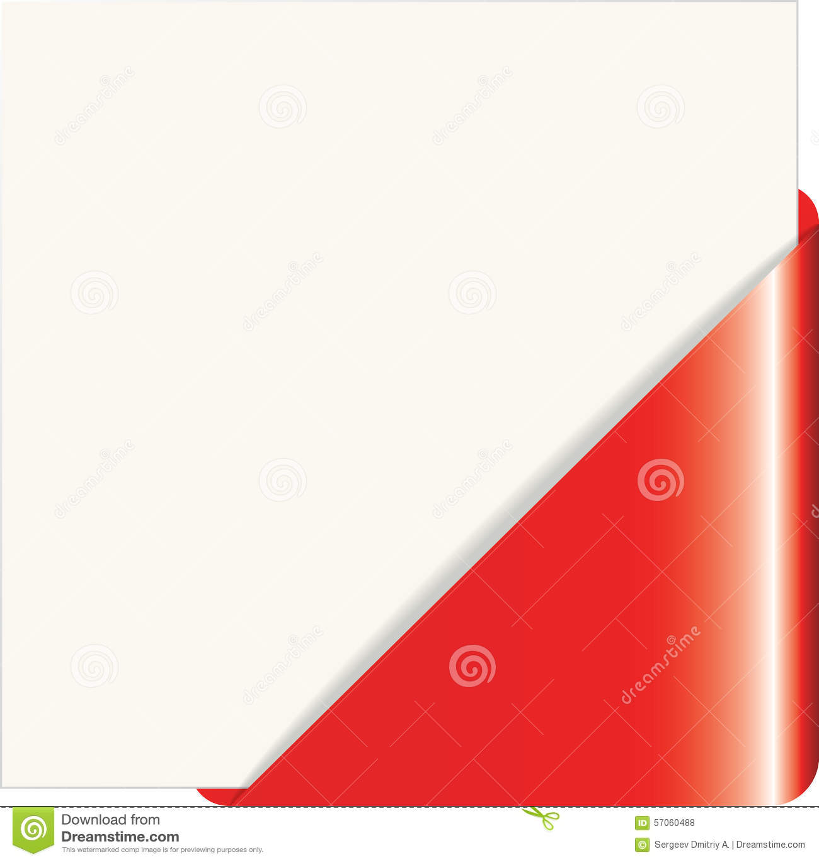 Rode document hoek