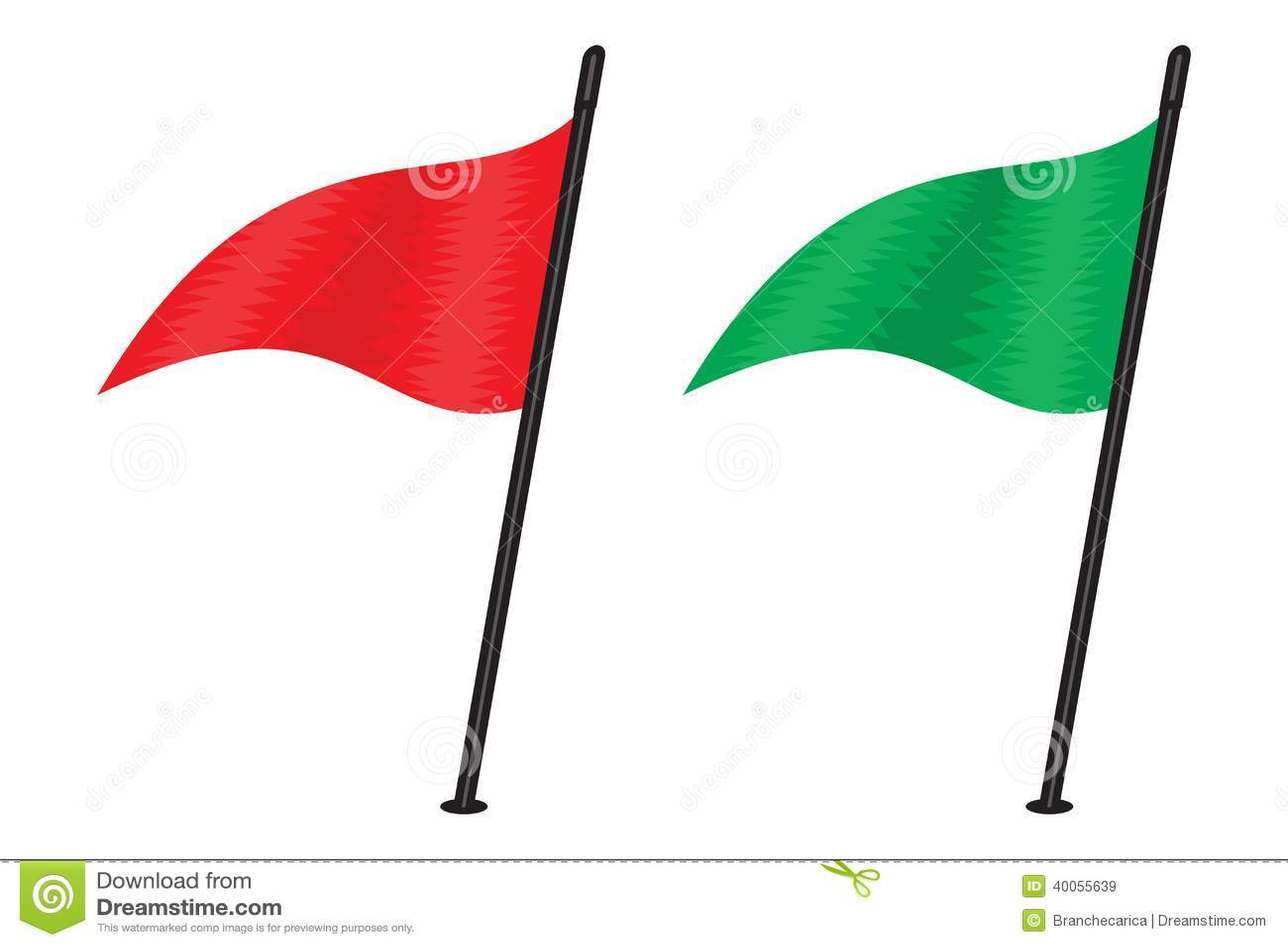 Rode driehoekige vlag