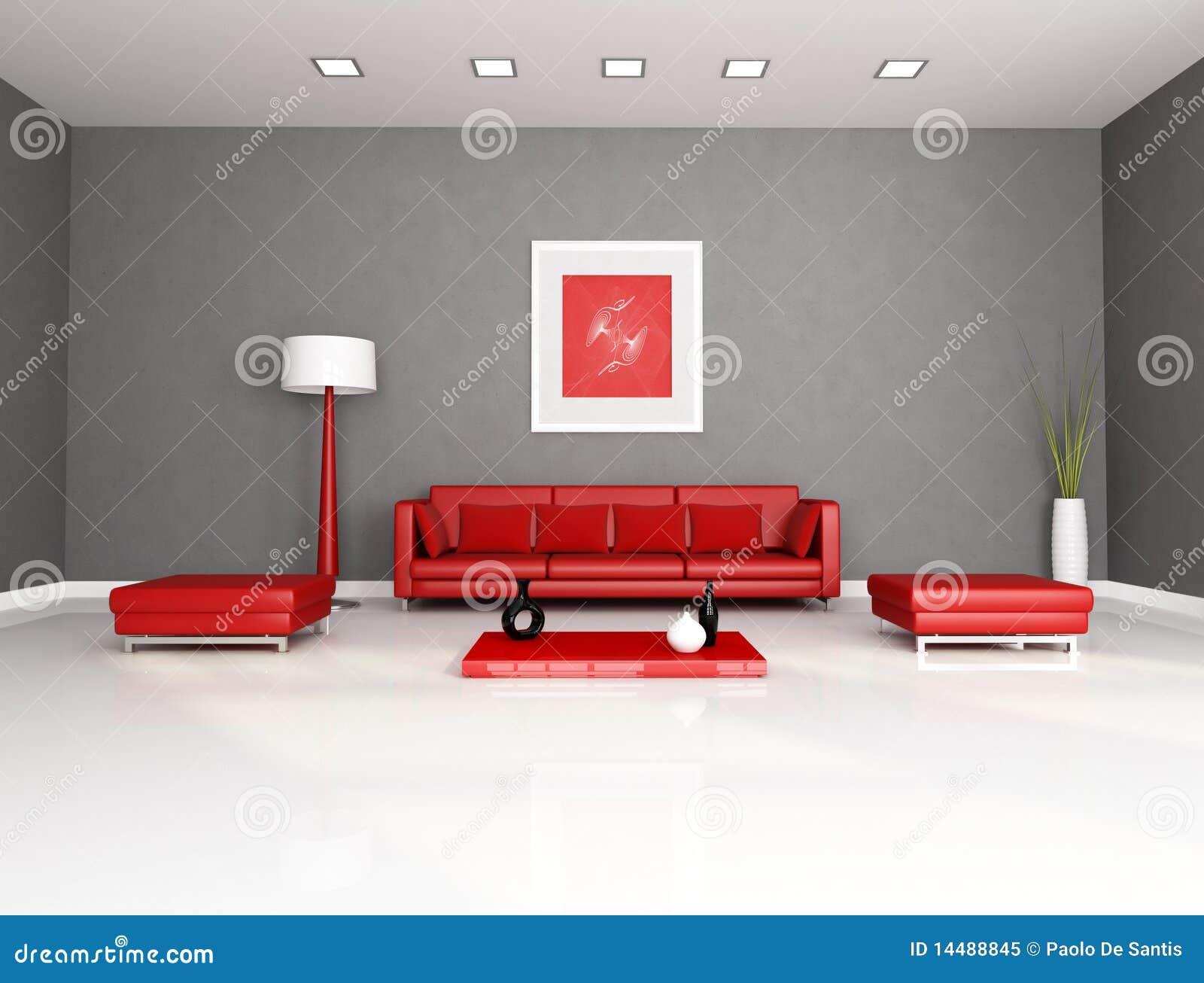 Rode en grijze woonkamer royalty vrije stock foto beeld 14488845 - Grijze en rode muur ...