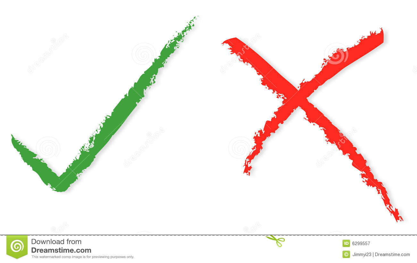 Rode en groene tikken