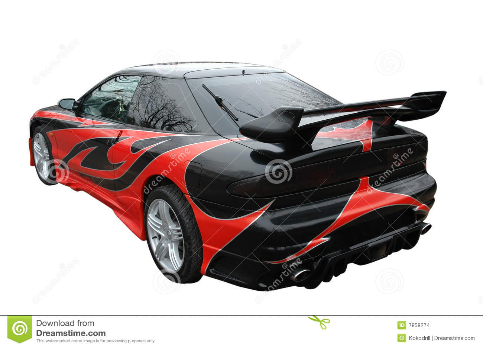 rode en zwarte moderne sport auto stock foto afbeelding bestaande uit modern legering 7858274. Black Bedroom Furniture Sets. Home Design Ideas