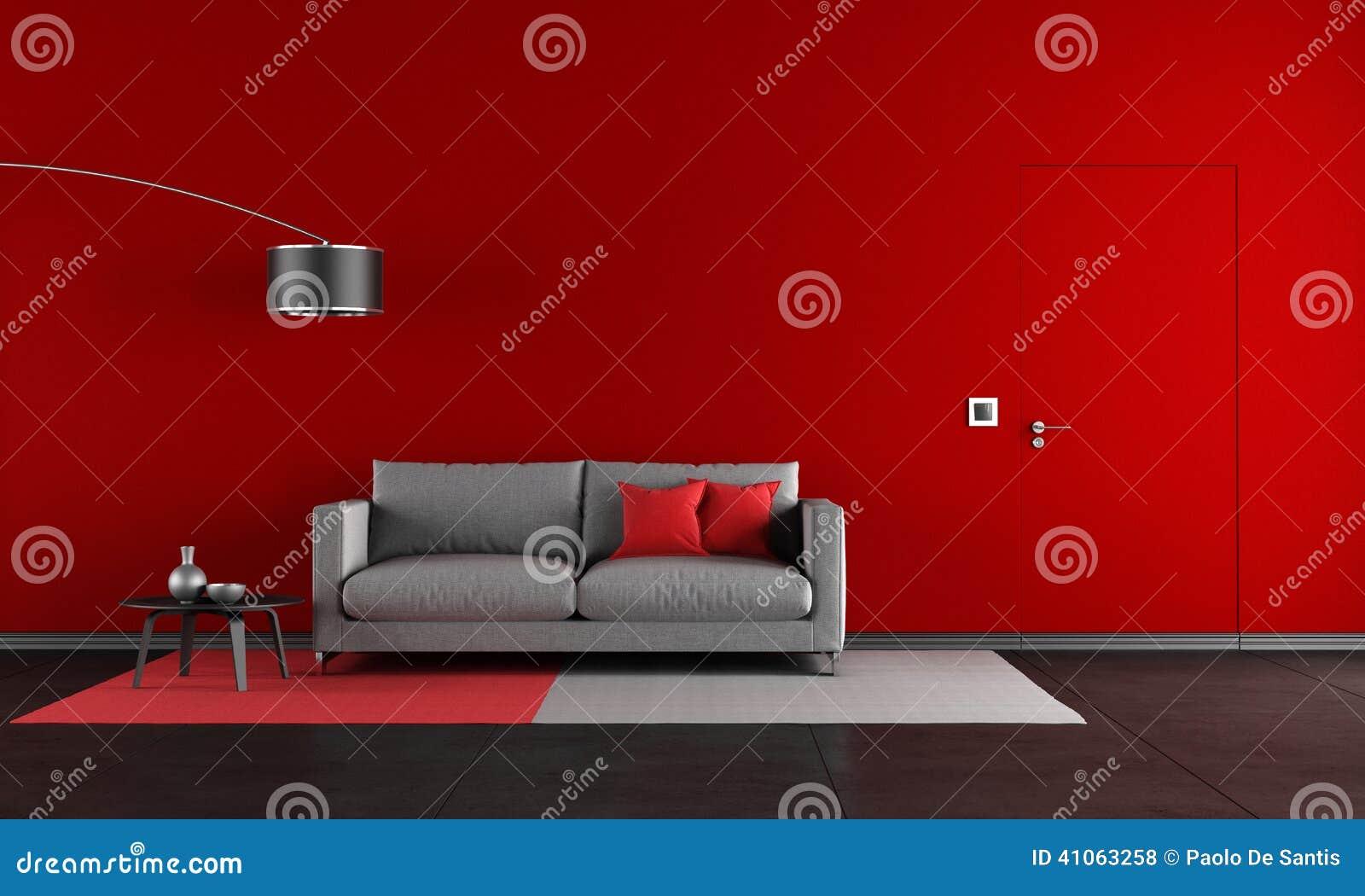 Rode en zwarte woonkamer stock illustratie   afbeelding: 41063258