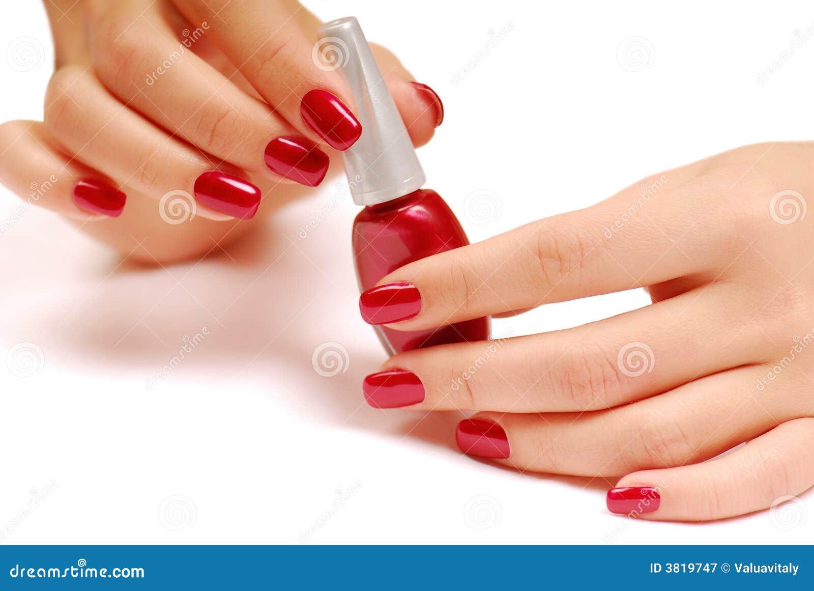 Rode fles nagellak