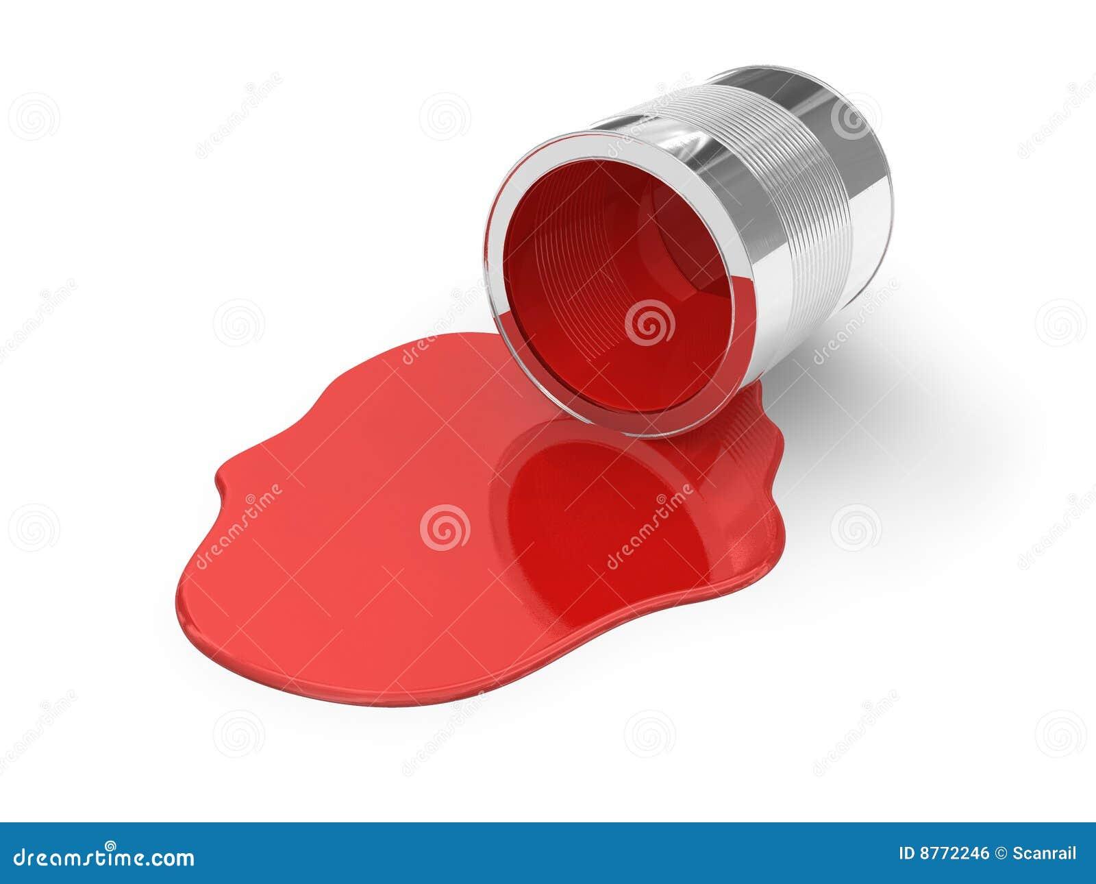 Rode gemorste verf royalty vrije stock afbeelding beeld 8772246 - Maken rode verf ...