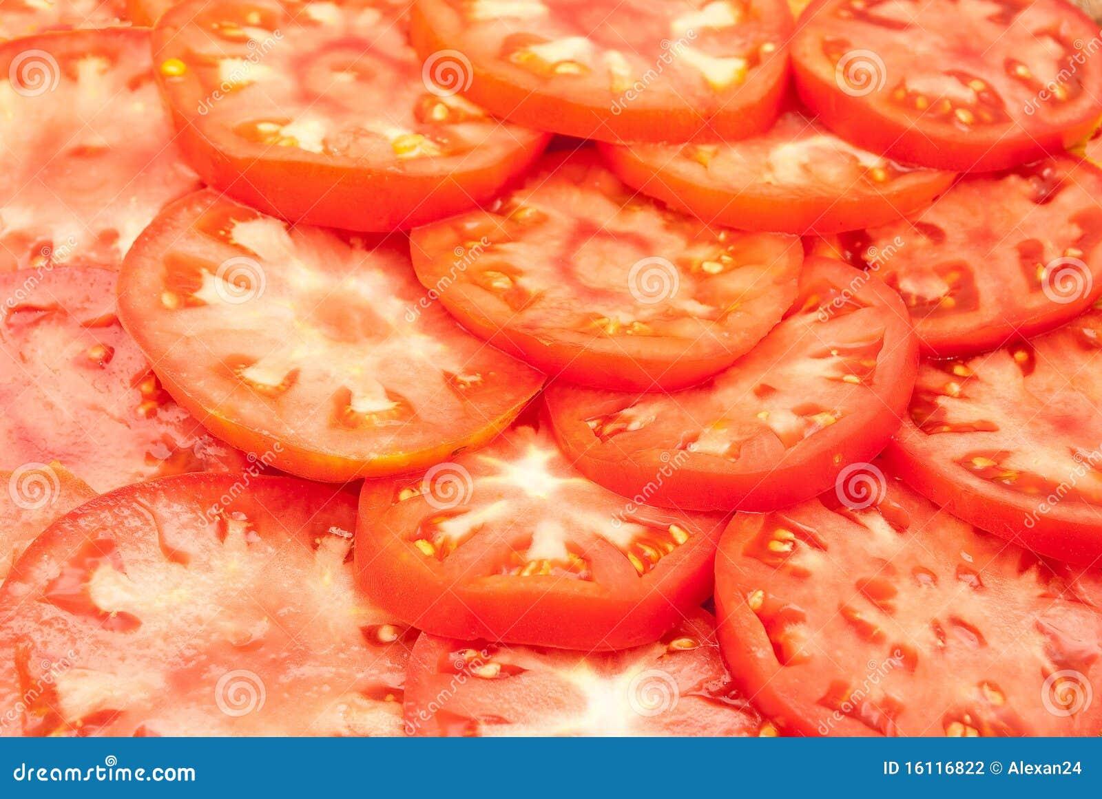 Rode Gesneden Tomaten Stock Fotografie - Afbeelding: 16116822