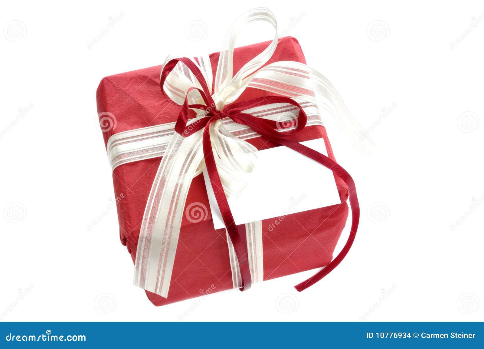 Rode gift met kaart