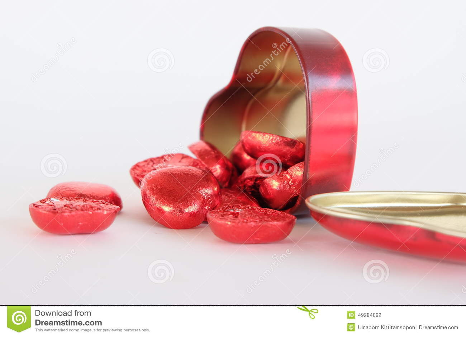 Rode hartchocolade cheer