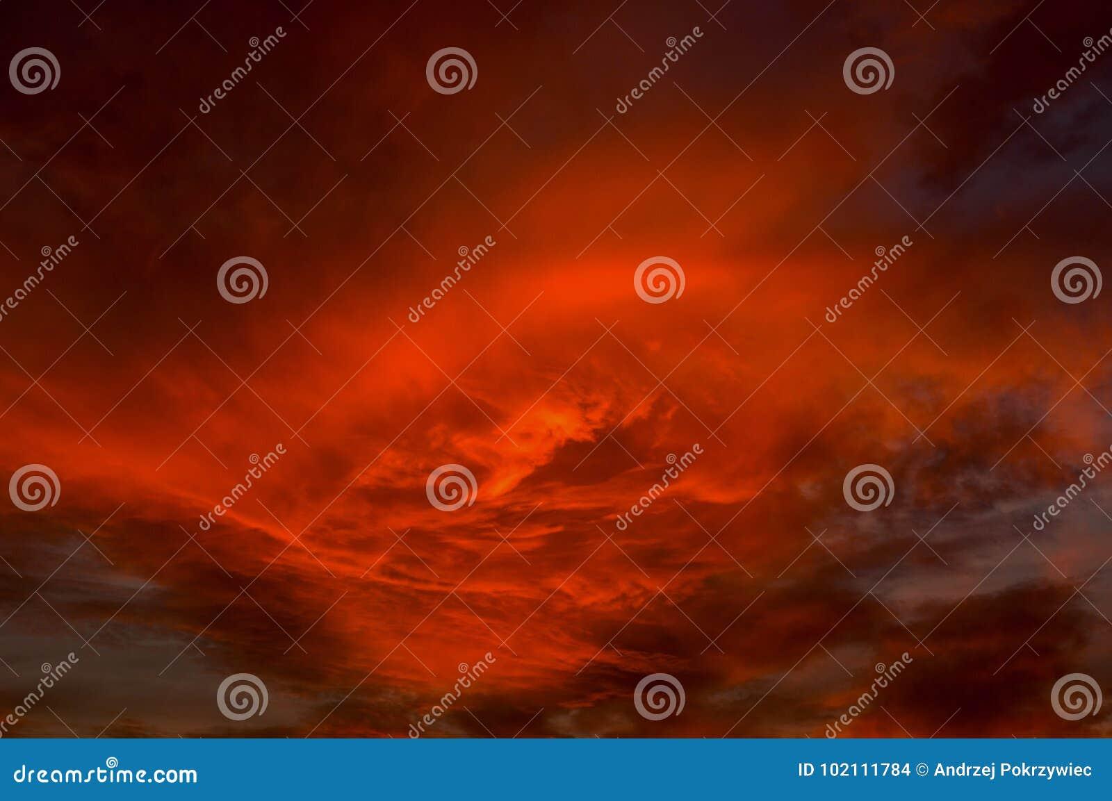 Rode hemel