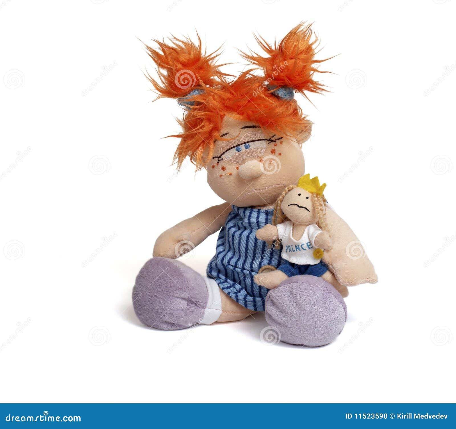 Rode hoofd grappige pop