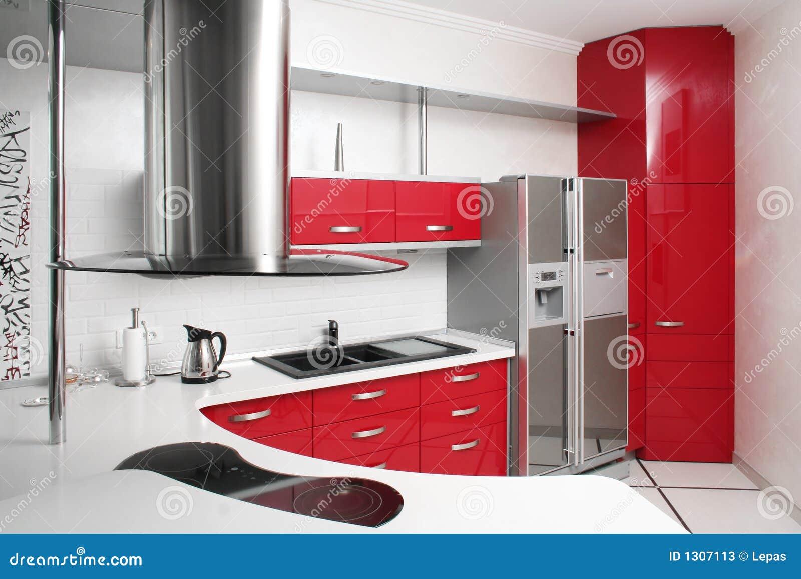 Rode keuken stock afbeelding afbeelding bestaande uit binnenlands 1307113 - Aardewerk rode keuken ...