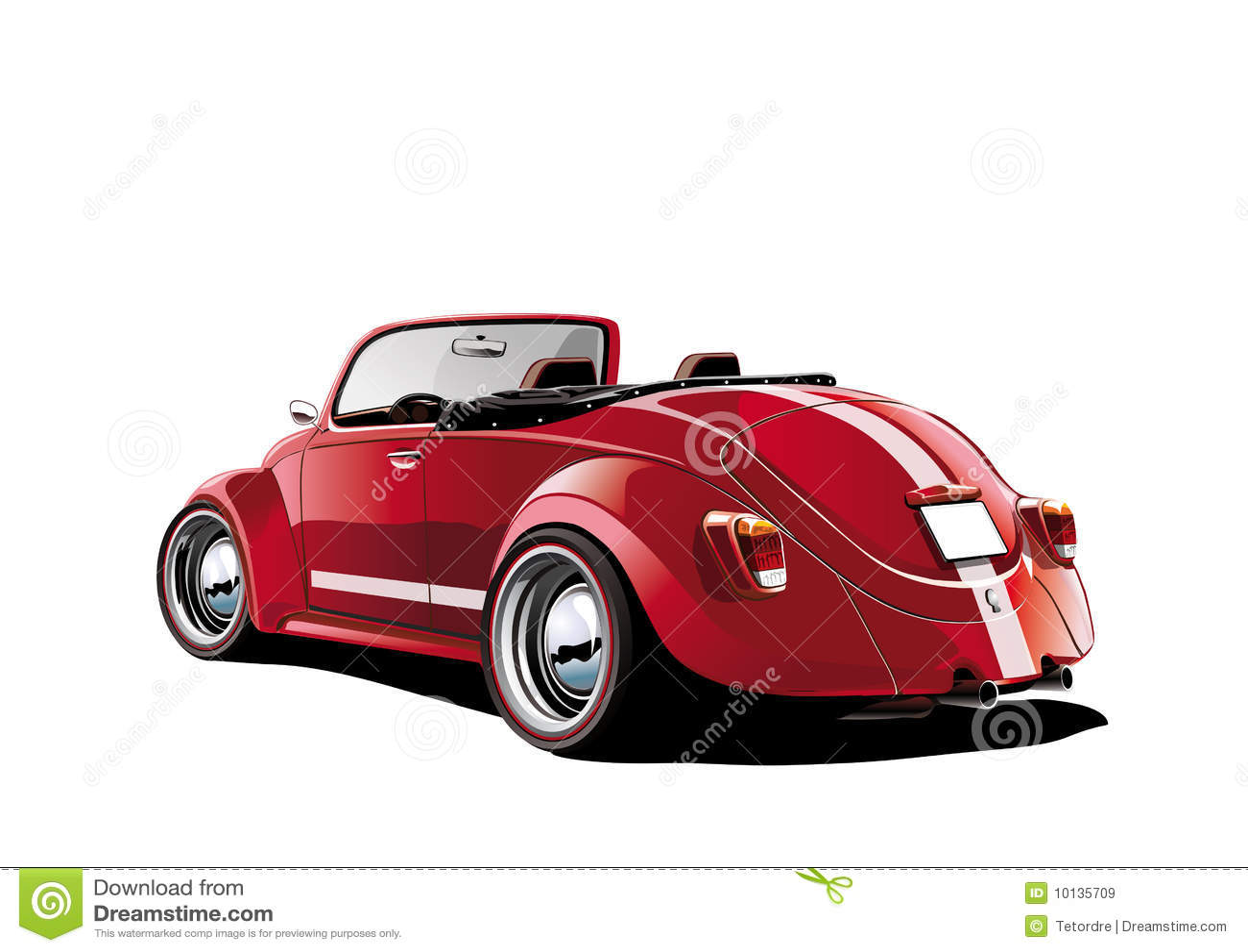 Rode klassieke convertibel