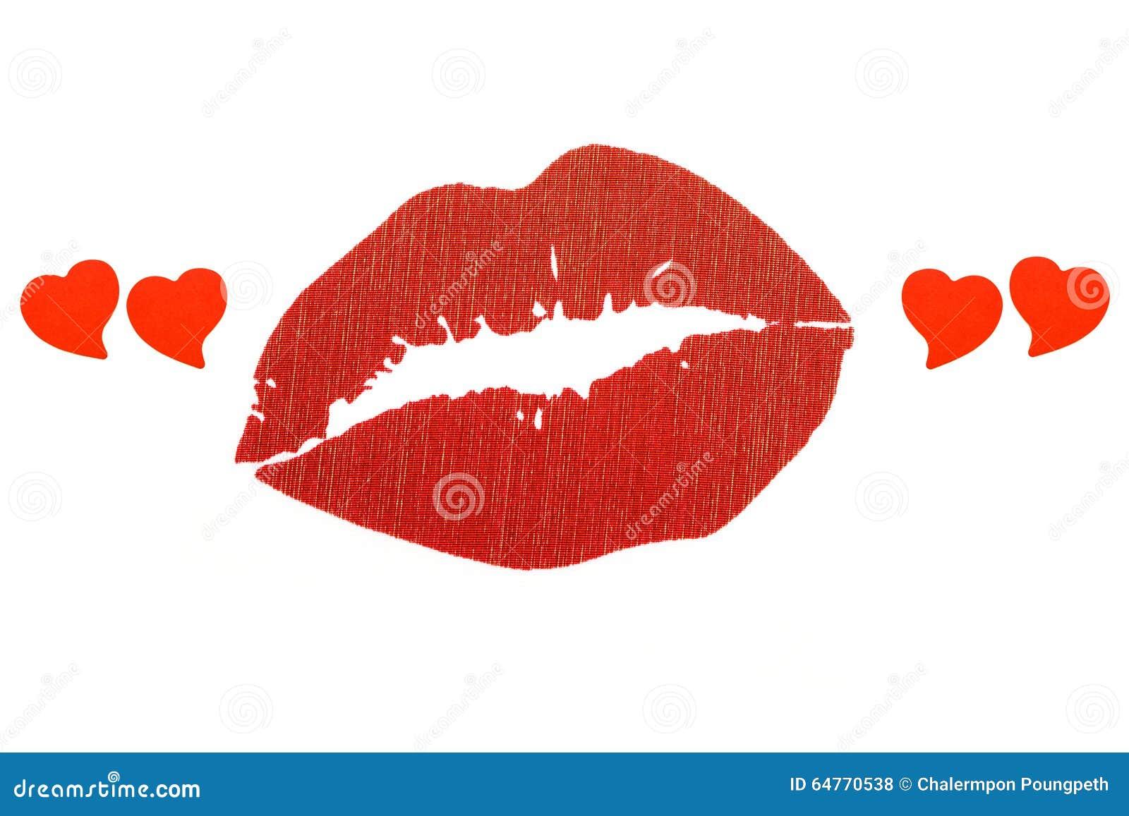 Rode lippen in hartcitaten