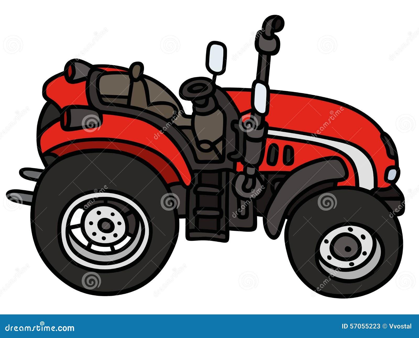 Rode open tractor