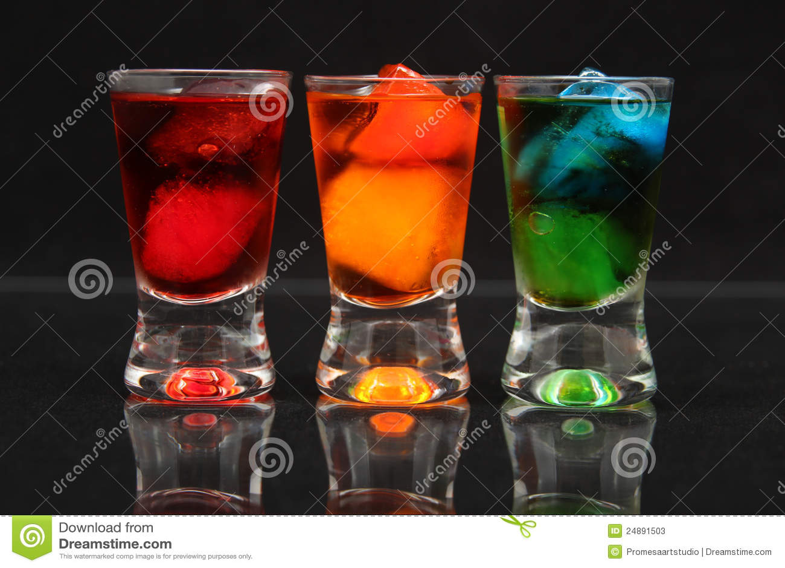 Rode, oranje en groene schoten