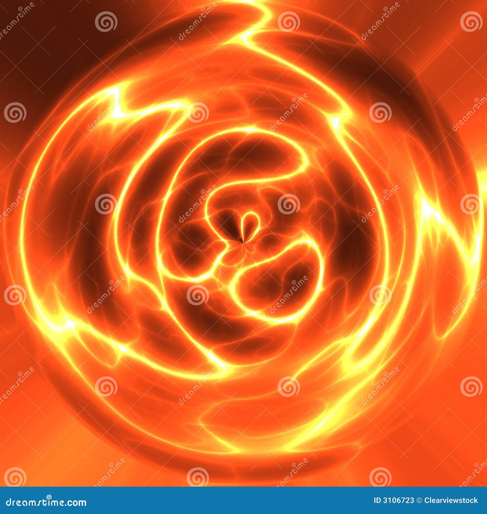 Rode orb van elektriciteit