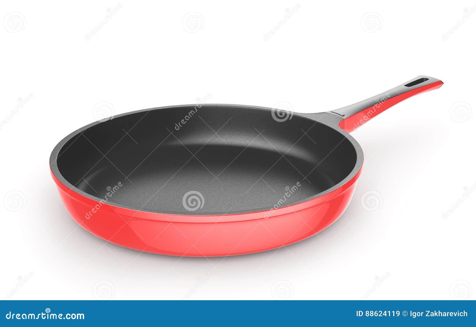 Rode pan met ceramische deklaag