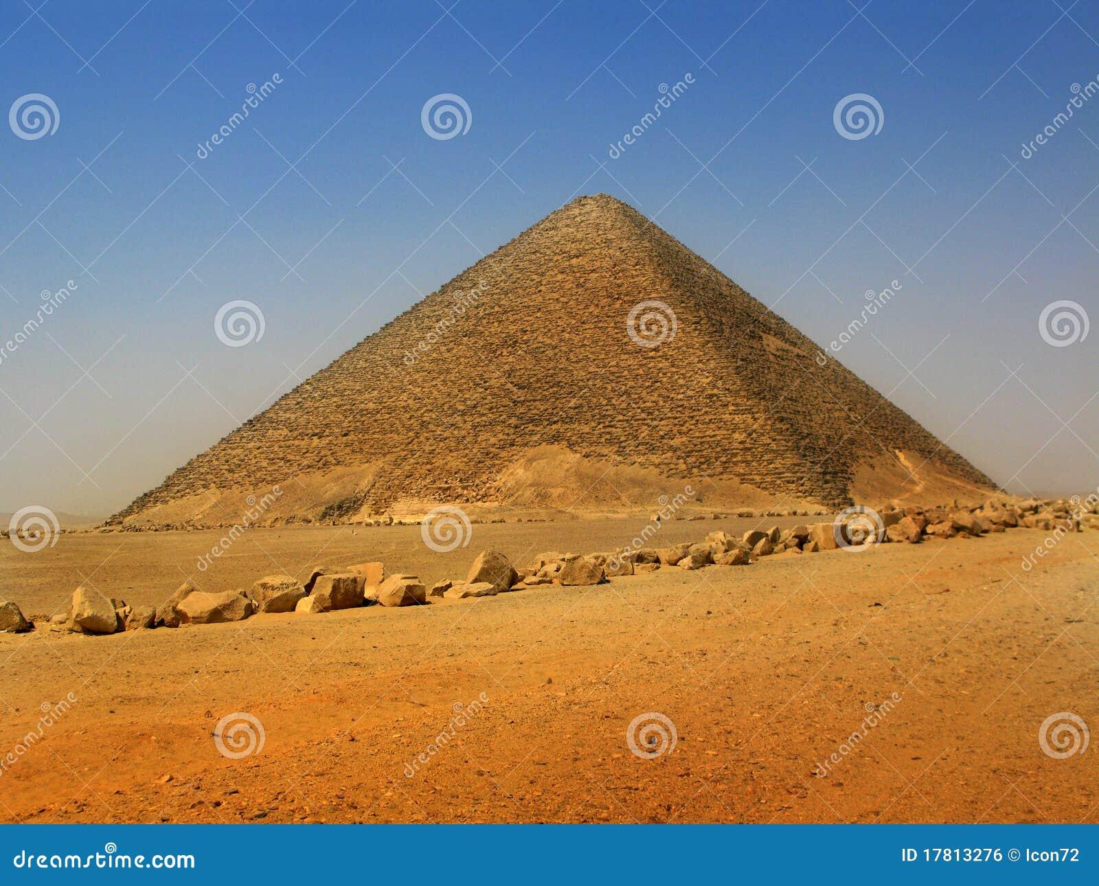 Rode piramide van Sneferu in Dahshur, Kaïro, Egypte