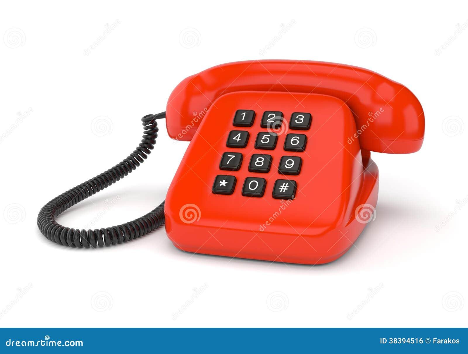 rode retro telefoon royalty vrije stock afbeelding. Black Bedroom Furniture Sets. Home Design Ideas