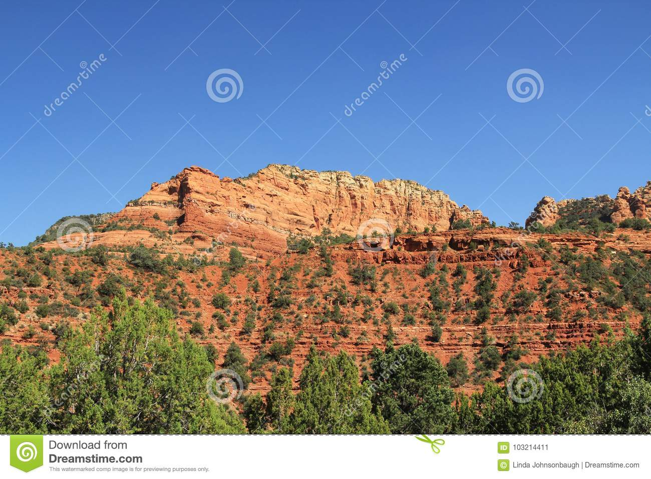 Rode Rotsvorming in Sedona Arizona