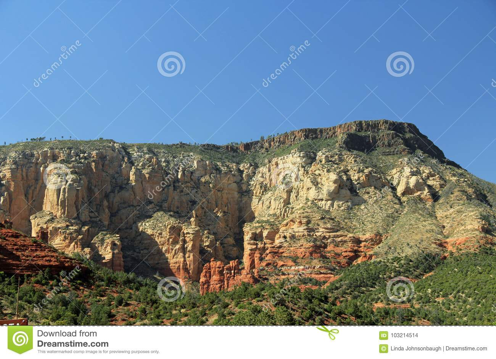 Rode Rotsvorming in Sedona Arizona