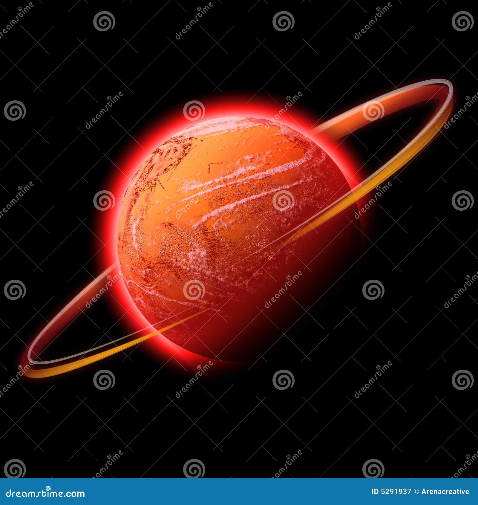 Rode ruimteplaneet