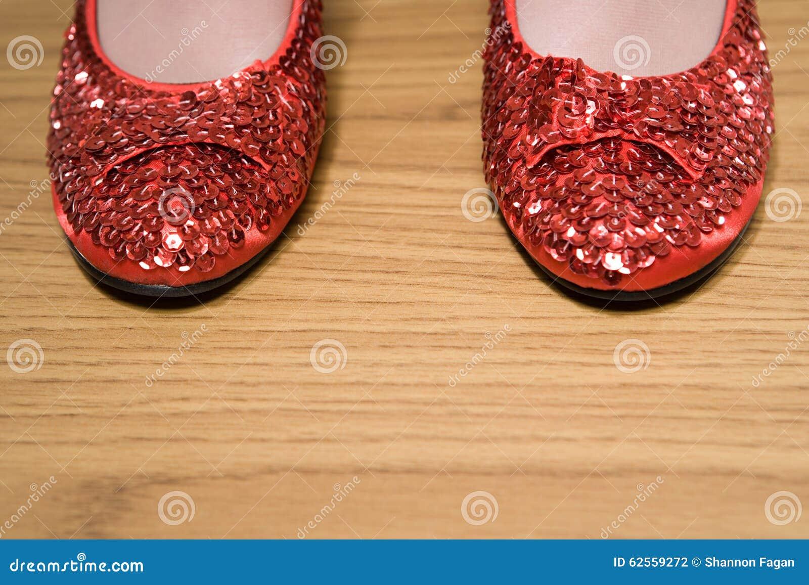 Rode Schoenen Sparkly