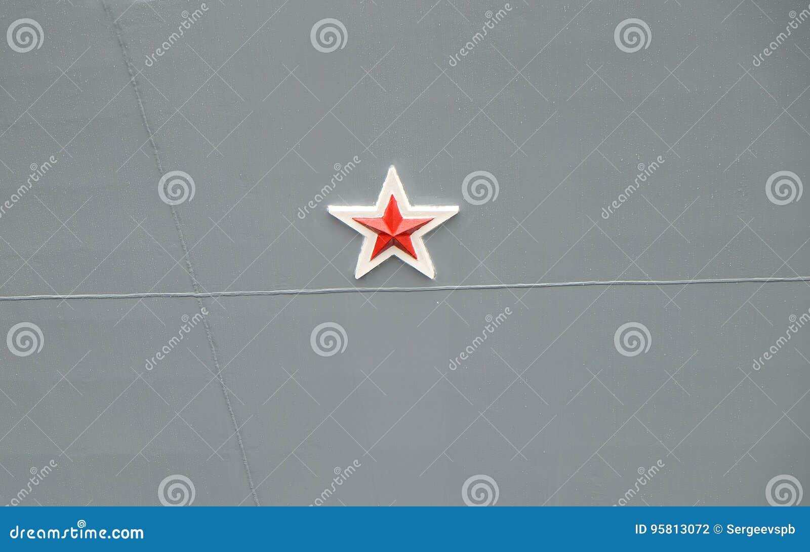 Rode ster op de schil