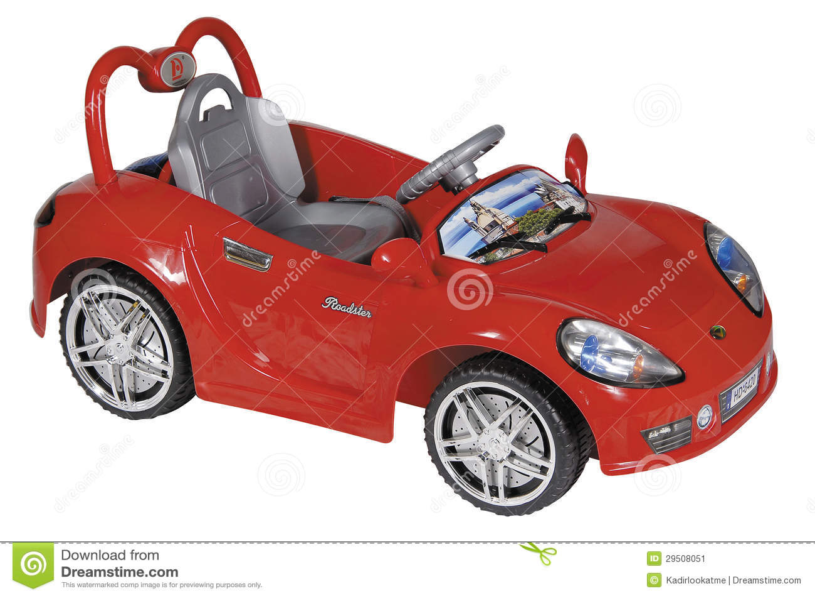 Rode stuk speelgoed auto