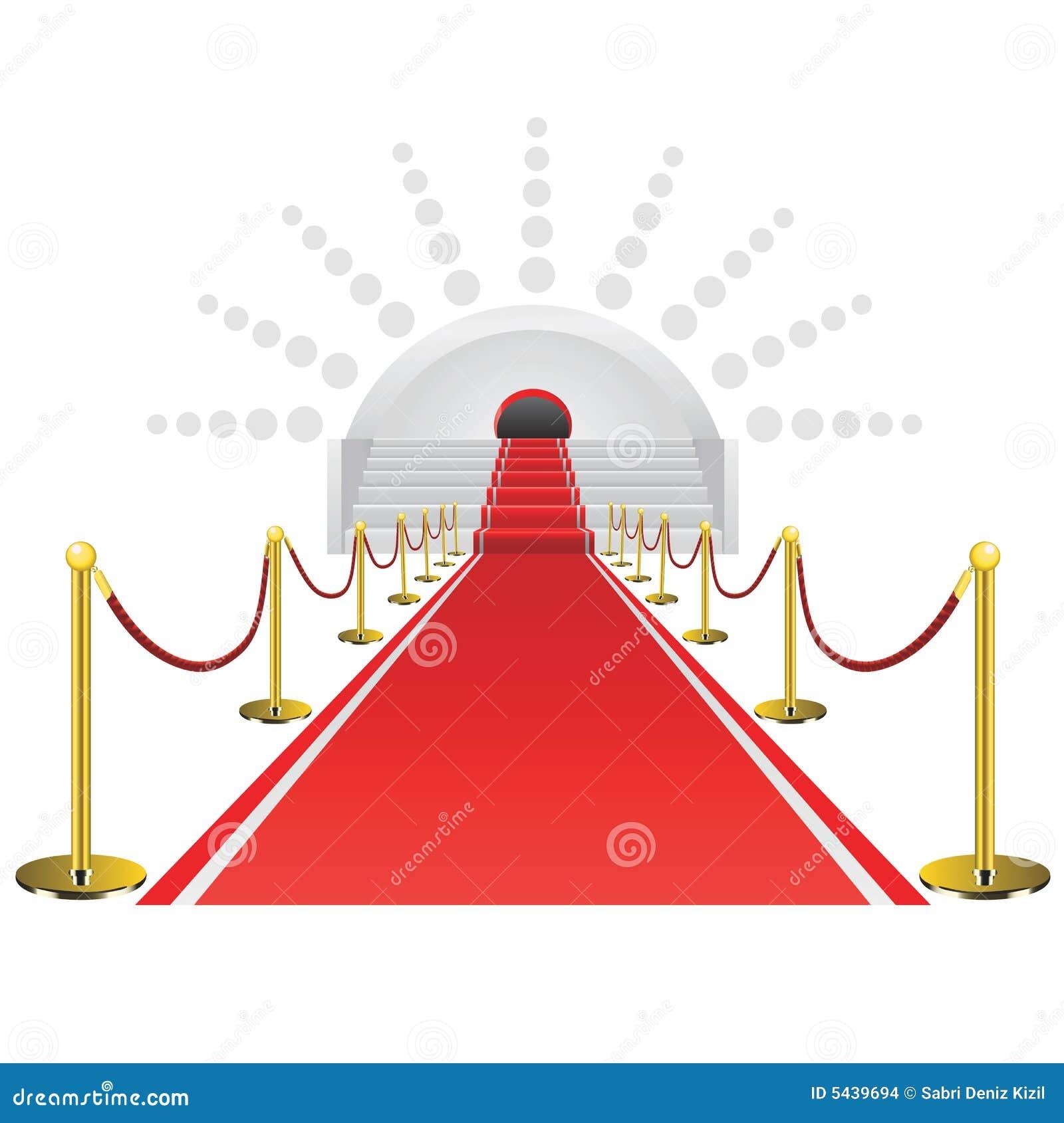 Rode tapijtvector