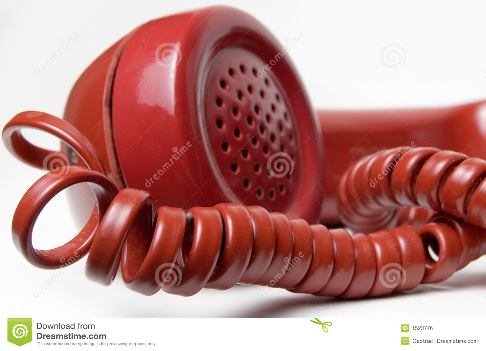Rode telefoonontvanger
