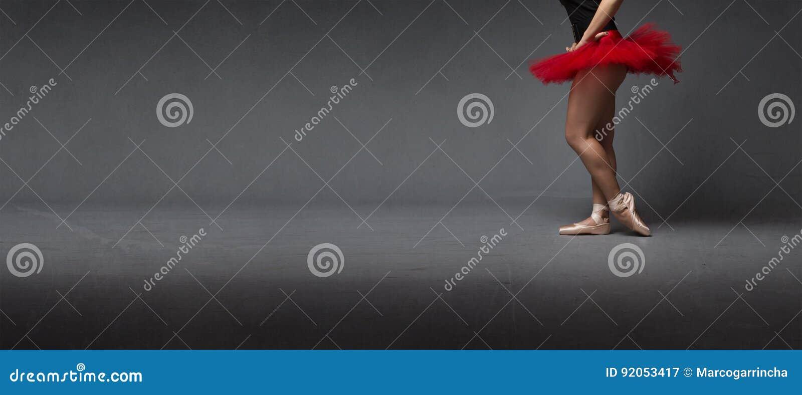 Rode tutu en tiptoe zijmening