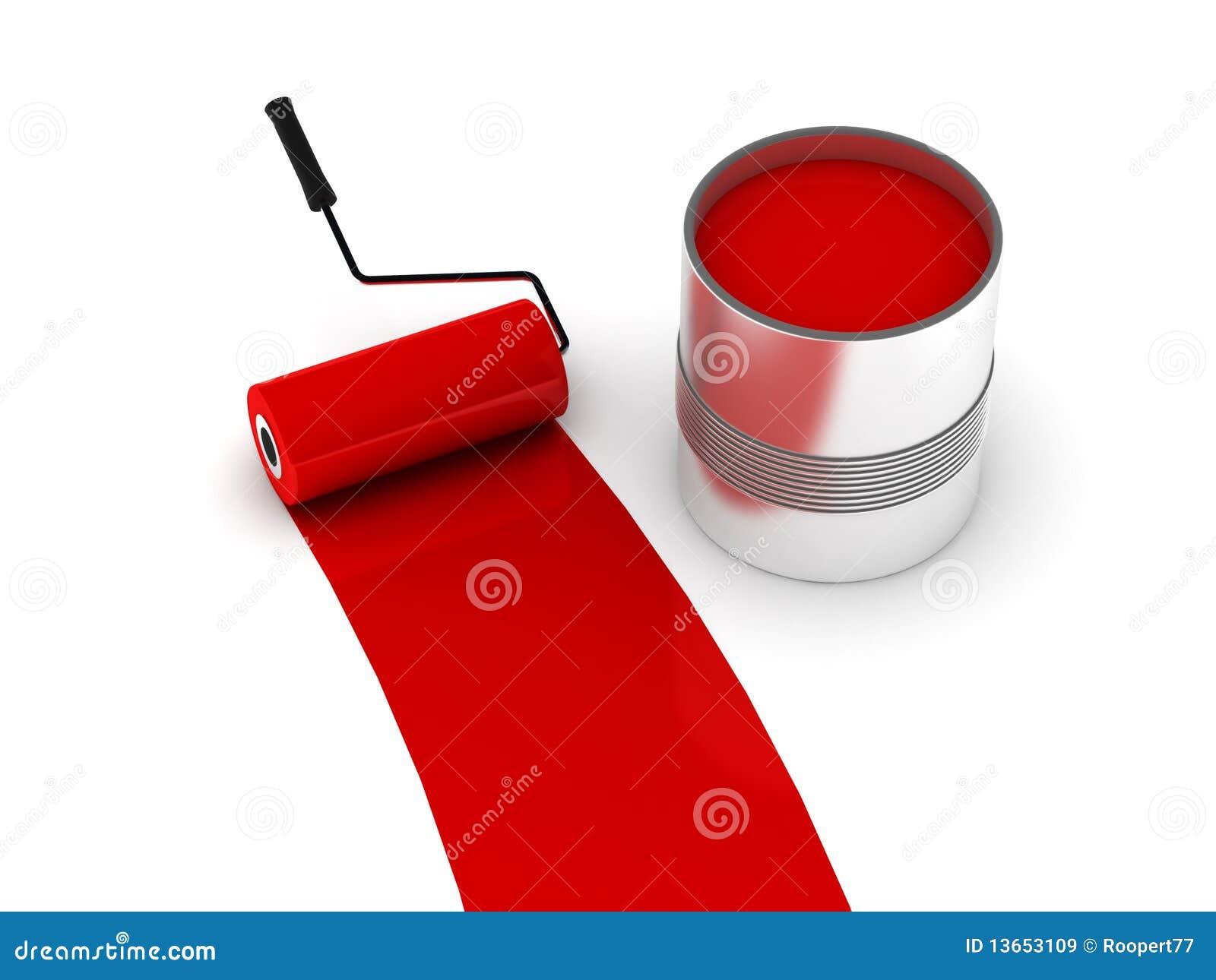 Rode verf royalty vrije stock afbeeldingen afbeelding 13653109 - Maken rode verf ...