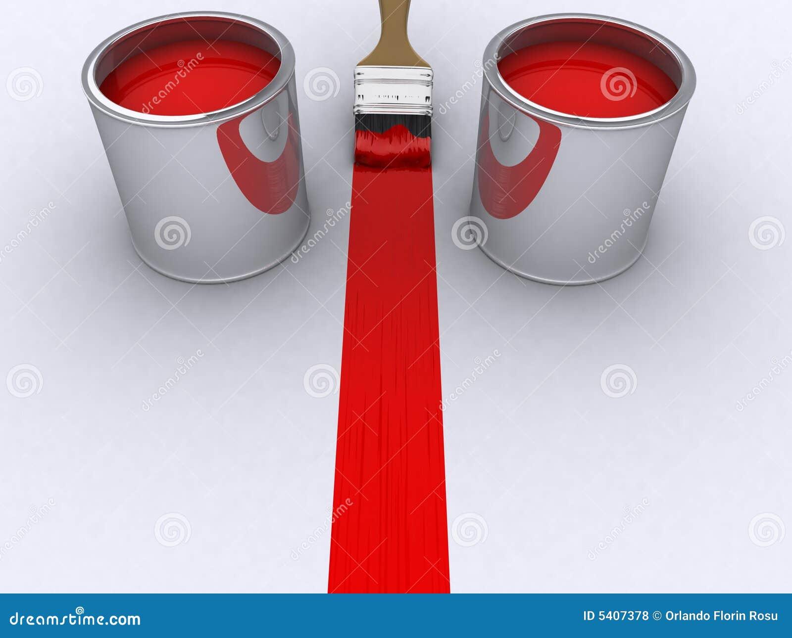 Rode verf royalty vrije stock foto 39 s afbeelding 5407378 - Maken rode verf ...