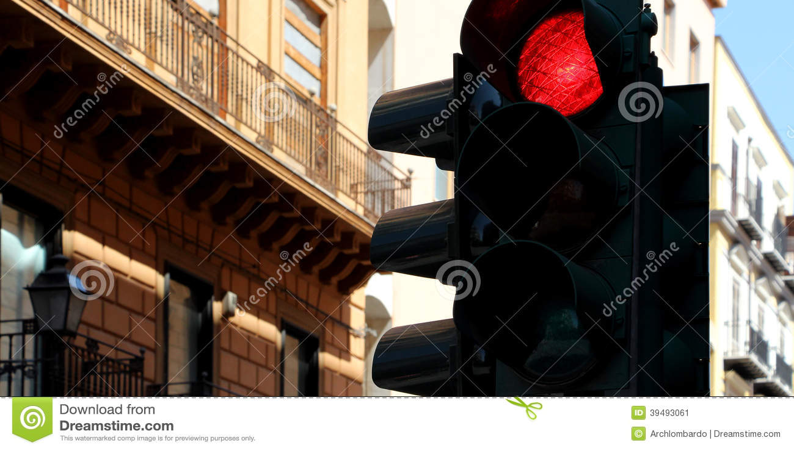 Rode verkeerslichten,