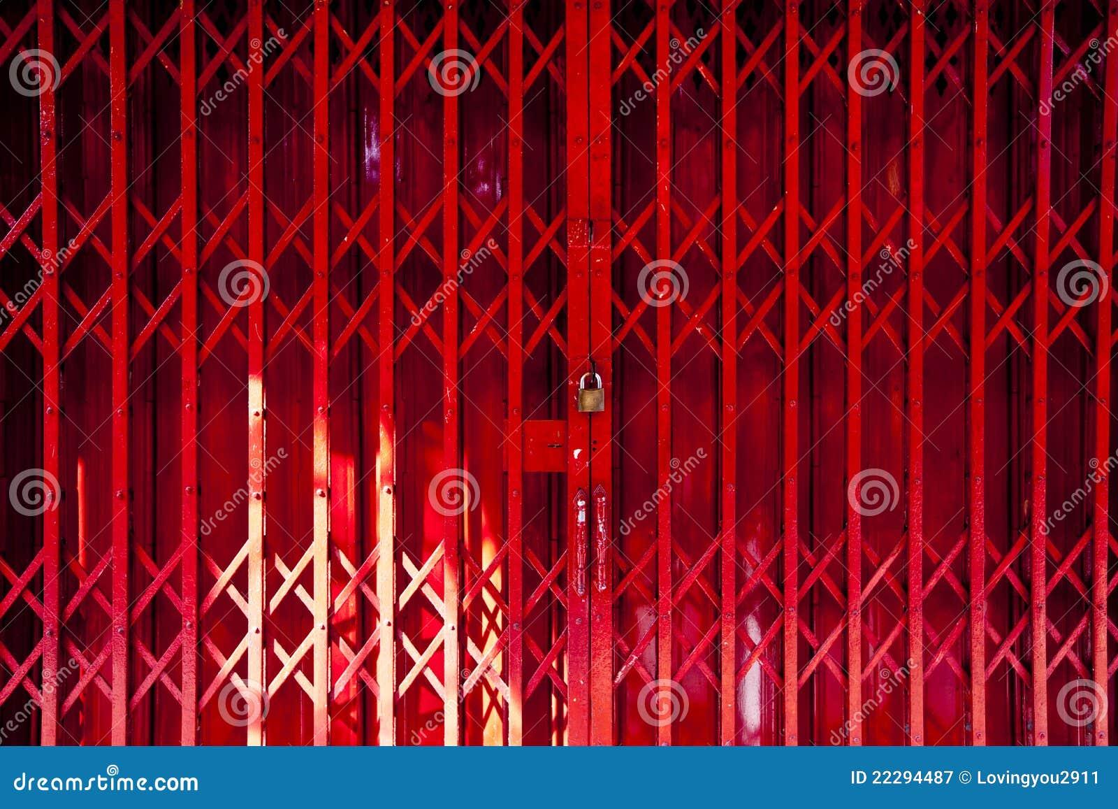 Rode Vouwende Deur