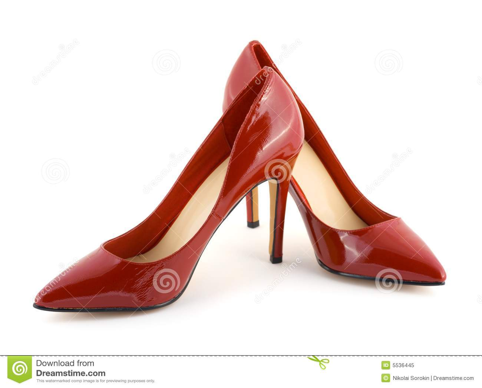 Rode vrouwenschoenen