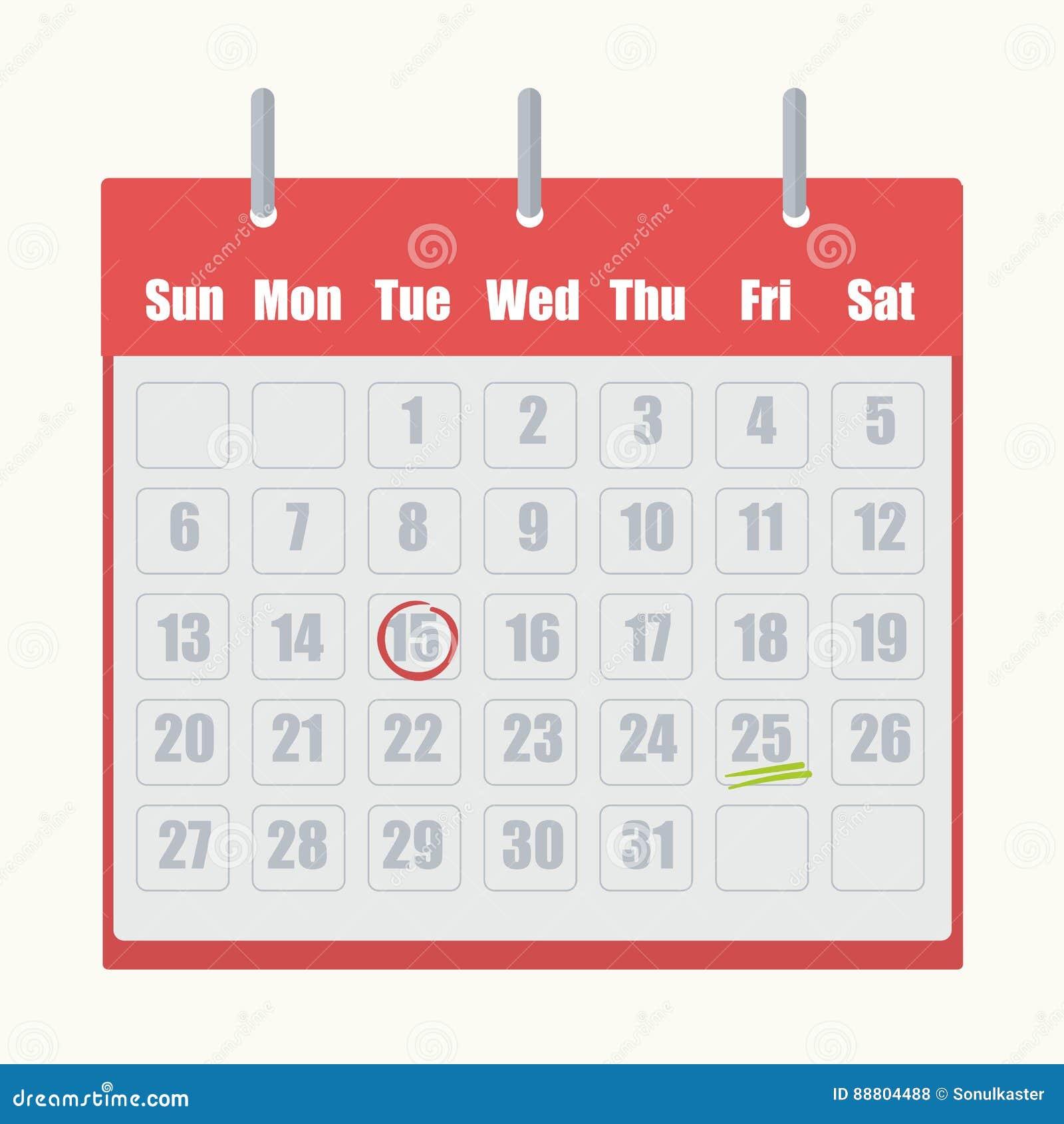 Rode wipschakelaarkalender met grijs aantallenclose-up op witte achtergrond