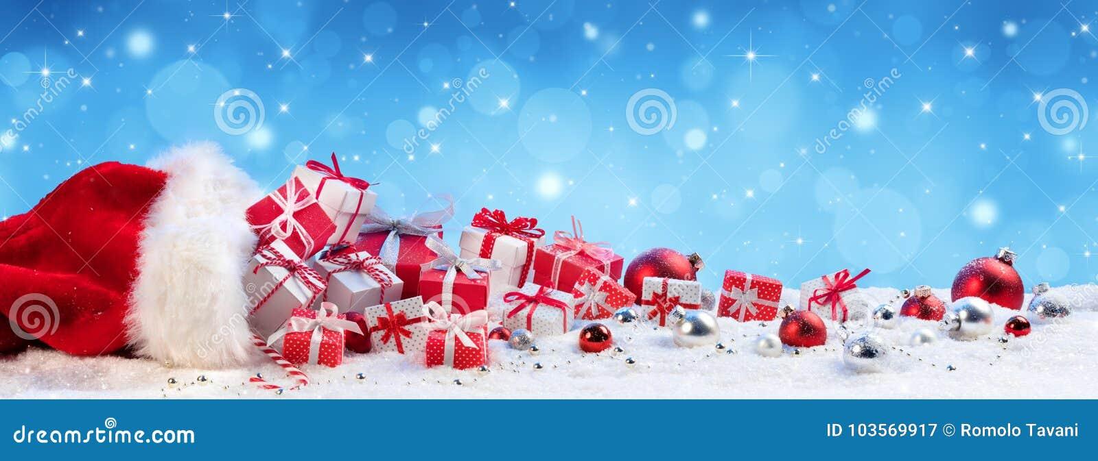 Rode Zak met Aanwezige Kerstmis