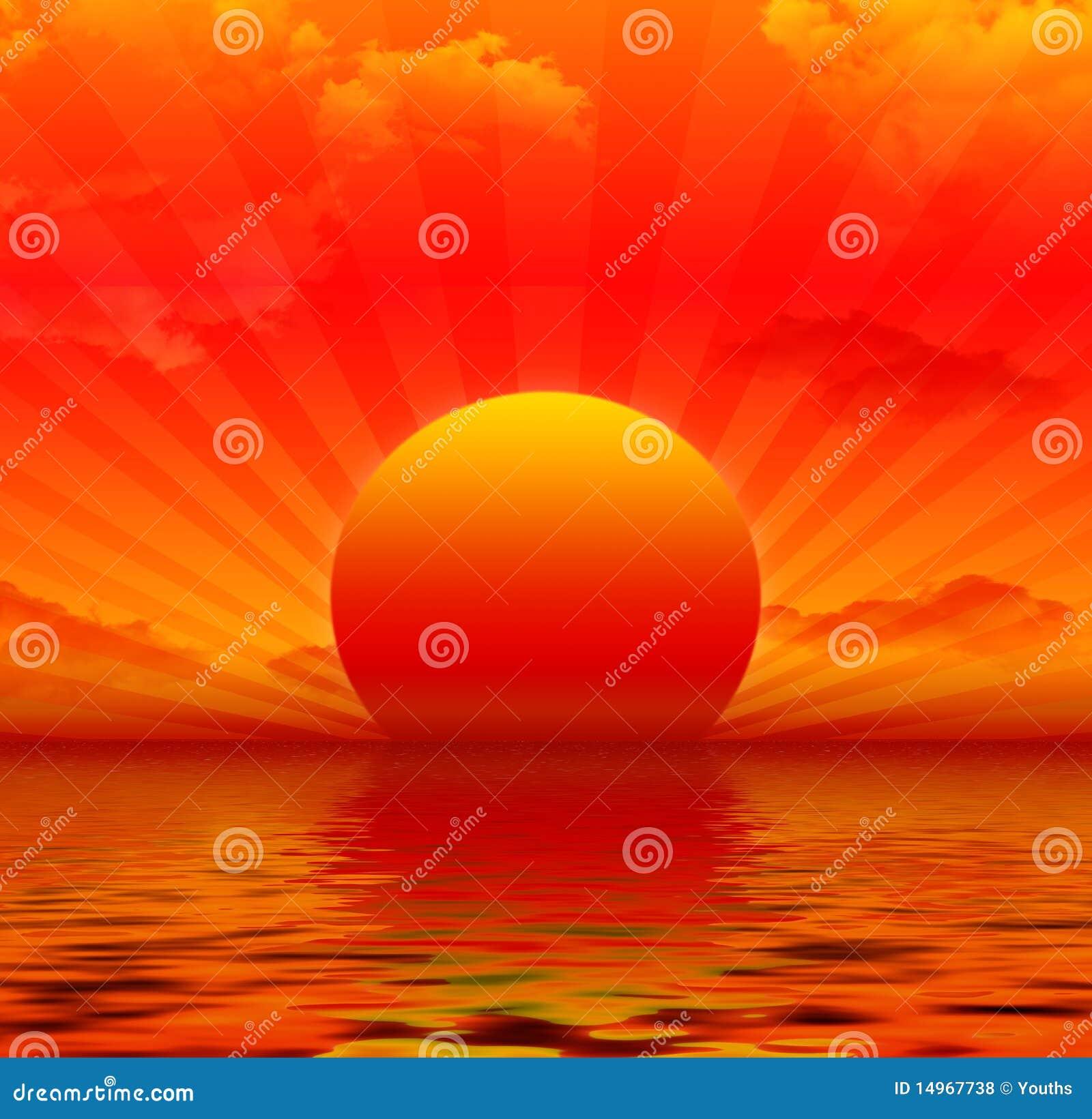 Rode Zonsondergang